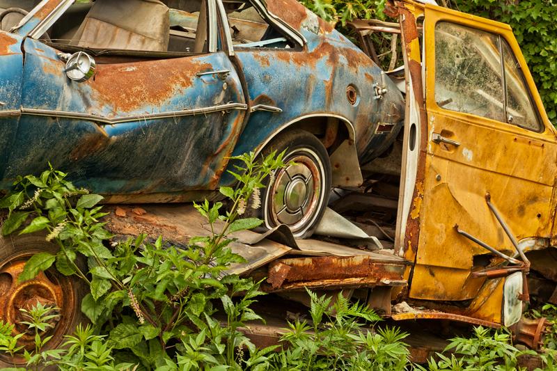 Fotografie Ulla Schaefer aus Leipzig - Arbeiten aus dem Bereich Verlassenes - Schrottautos